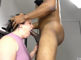 chunky brunette gets black dick in her throat - virgo peridot